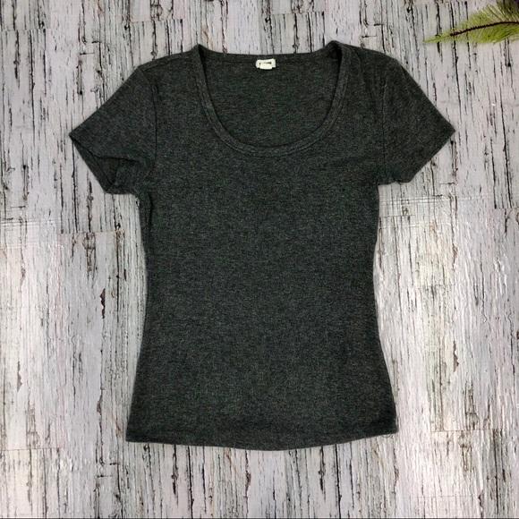 Garage Gray Ribbed T-Shirt, Size M